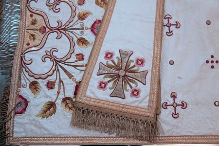 Church vestments background.