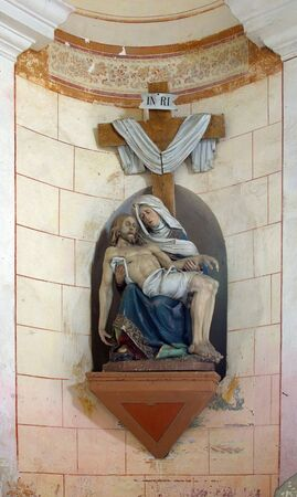 Our Lady of Sorrows, a statue in the chapel of Saint Anne in Desinic, Croatia