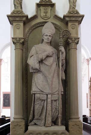 Tomb memorial for Bishop Georg Anton von Stahl in Wurzburg Cathedral dedicated to Saint Kilian, Bavaria, Germany