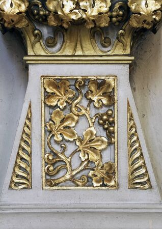 Decoration on the altar of the Holy Cross in Zagreb cathedral Standard-Bild