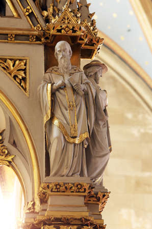 Doctors of the Church, statues on the main altar in Zagreb cathedral