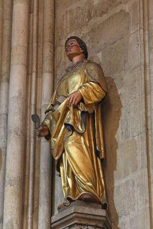 Saint Stephen, statue in Zagreb cathedral Editoriali