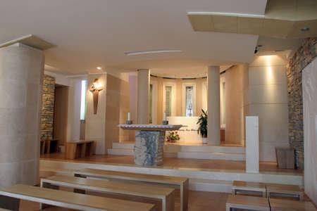 Sanctuary of The Blessed Mary of Jesus Crucified Petkovic in Blato, Korcula island, Croatia Editoriali