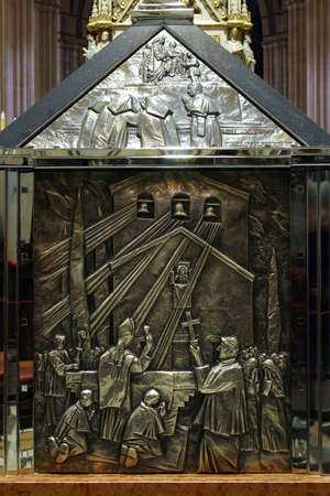 Sarcophagus of Blessed Aloysius Stepinac: The blessing of the bells at the church at Knin, 1938, Zagreb cathedral.
