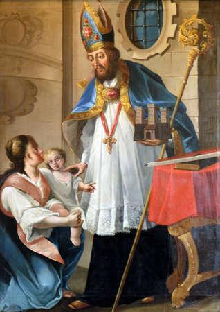 Saint Blaise, the patron of the Zagreb Gradec