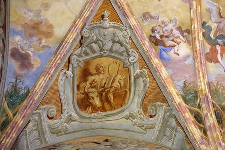 Saint Luke the Evangelist, fresco in the church of Immaculate Conception in Lepoglava, Croatia