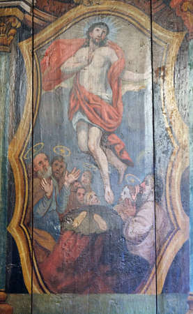 Resurrection of Christ, altarpiece in the Church of the Saint Barbara in Velika Mlaka, Croatia Reklamní fotografie