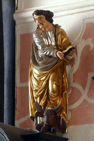Saint Luke the Evangelist, altar of the Holy Spirit in the Church of Saint Catherine of Alexandria in Zagreb, Croatia