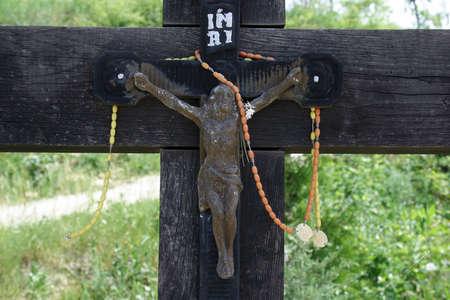 Roadside Crucifix in Zagorje region, Croatia