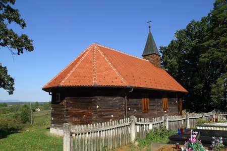 Chapel of St. John the Baptist in Lukinic Brdo, Croatia Stock Photo