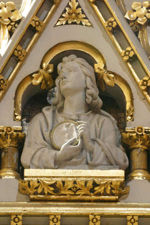 Saint John the Evangelist, statue on the main altar in Zagreb cathedral Editoriali