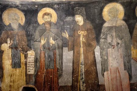 Fresco in the Saint Naum Monastery near Ohrid in Macedonia