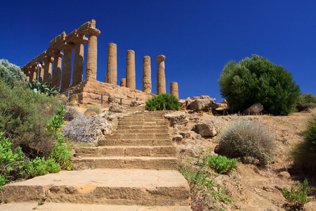 theatrics: Hera temple in Agrigento Sicily - temples valley