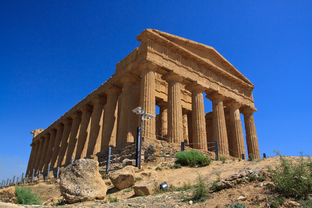 valley of the temples: Concordia temple in Agrigento Sicily - temples valley