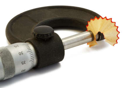 micrometer: Micrometer and shavings from a pencil