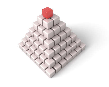 The pyramid is combined from cubes.