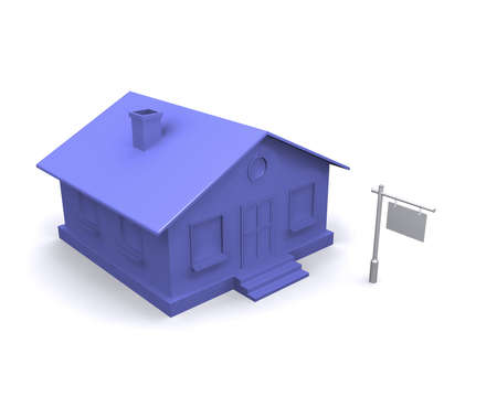 Maybe a house for sale? Or write your ad lease? Stock Photo