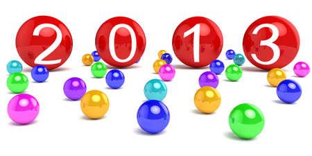 New Year 2013 on colored areas. Stock Photo - 15650853