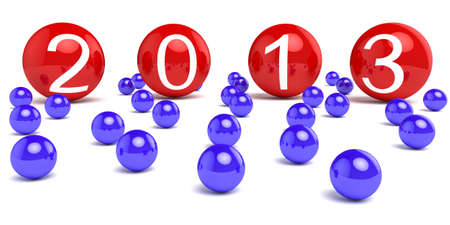 New Year 2013 on colored areas. Stock Photo - 15650852