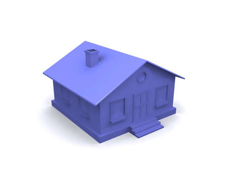 Purple house on a white background. Stock Photo