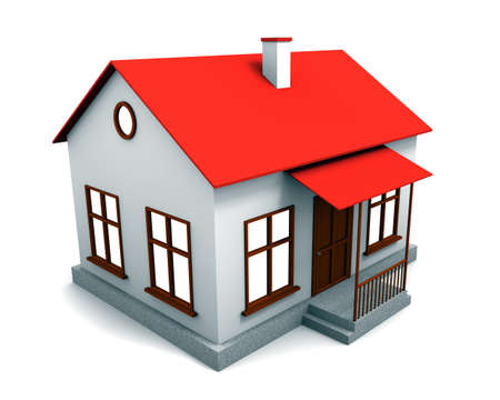 3d house on a white background.
