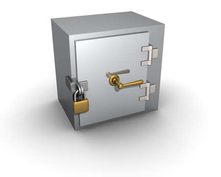 The safe is closed on the lock.