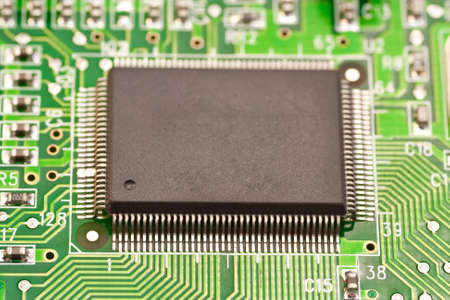 Photo of the chips on the motherboard  Macro