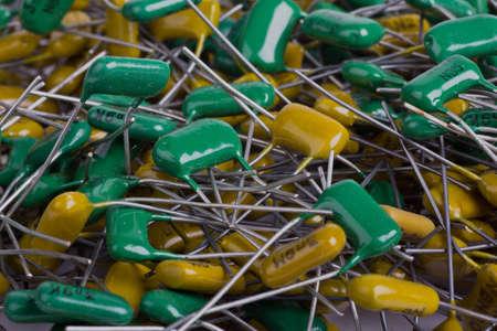 Texture electric capacitors  Stock Photo