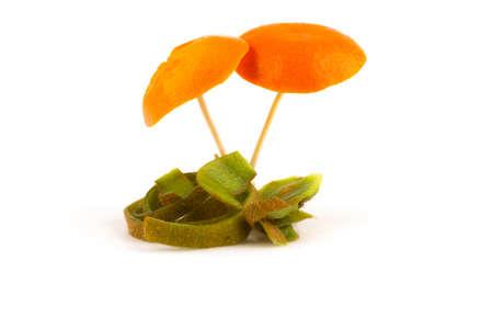 Mushrooms from the peel Stock Photo