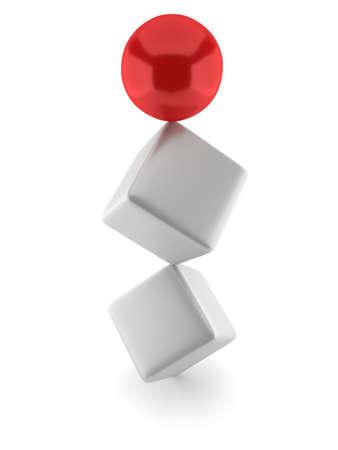 Balanced design Red ball dominant.