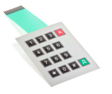 Component phone. Dial. Photo on a white background.