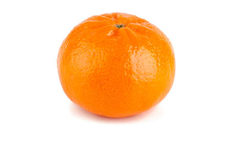 Ripe tangerine on a white background.