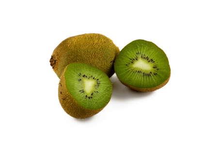 Kiwi fruit on white background. Isolate.