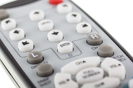 Photo remote control. White button enter in focus.