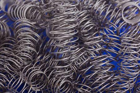 A heap of new metal springs.