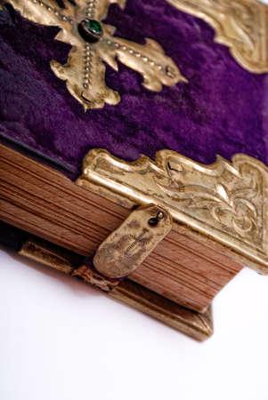 Bible XIX century steel and velvet photo