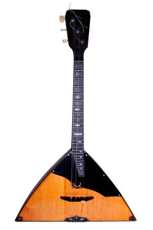 Balalaika is a stringed instrument of Russian origin isolated on a white background photo