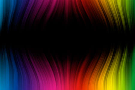 Abstract background from spectrum lines on a black background