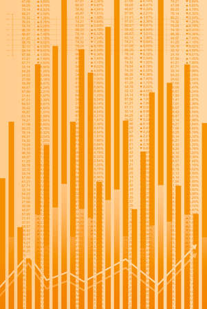 Business abstract background in orange tones