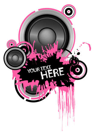 Grunge speaker design with copy space Stock Vector - 4587979