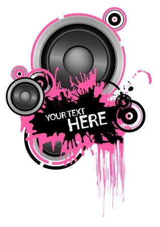 Grunge speaker design with copy space Vector