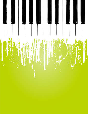 Grunge piano flowing... with copy space Stock Vector - 4615942