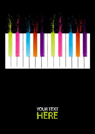 klavier: Spectrum Klavier Tasten mit Kopie Raum Illustration