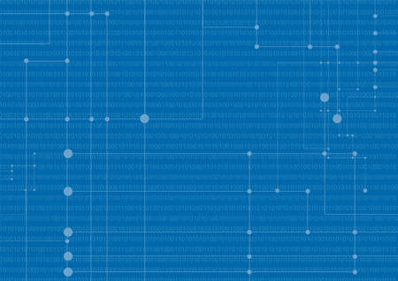 Abstract network background on a blue