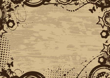Grunge vintage frame with copy space Illustration
