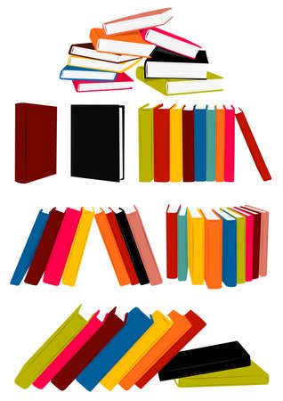 Stack of books, presentation, single book, collected works Stock Vector - 5688313