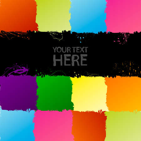 Spectrum grunge background with copy space