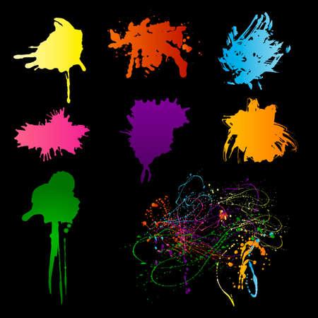Grunge spectrum blots with copy space