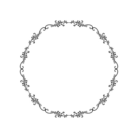 Ornamental circle frame 矢量图像