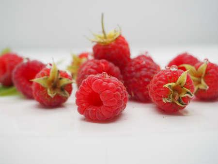 A few raspberries